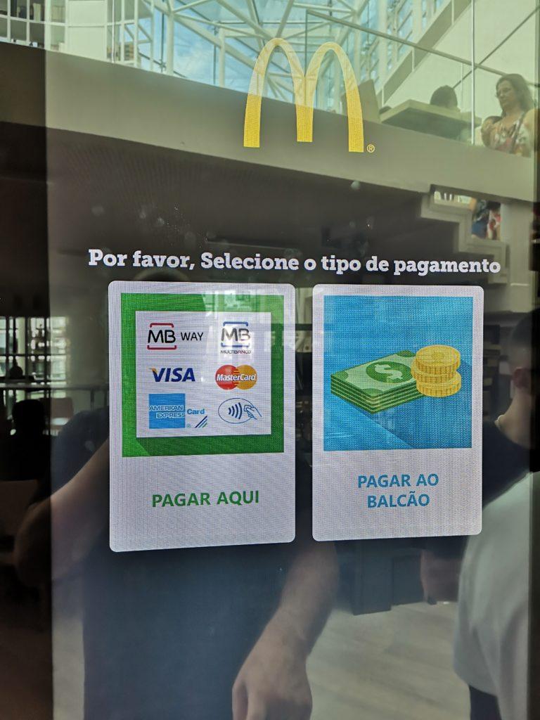 Pagamento máquinas automáticas